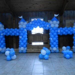 Cổng chào sinh nhật bong bóng cung điện CB141