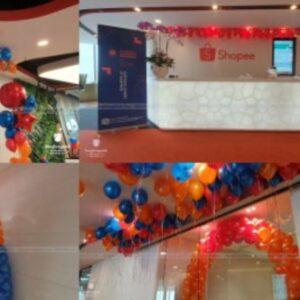 Trang trí sự kiện văn phòng Shopee KTVP002