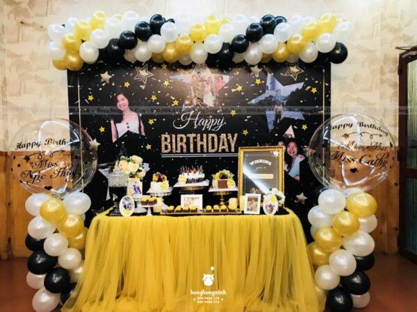 Backdrop trang trí sinh nhật công ty với bộ sản phẩm BBBN151