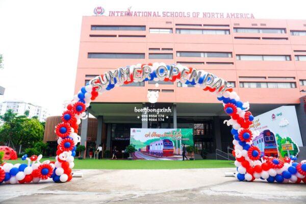 Cổng chào bong bóng khai giảng trường học quốc tế BBX037