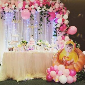 Trang trí sinh nhật trọn gói bé Nhật Quỳnh BBX038