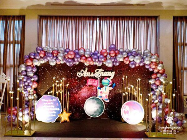 Backdrop tiệc cưới chủ đề vũ trụ BBX101