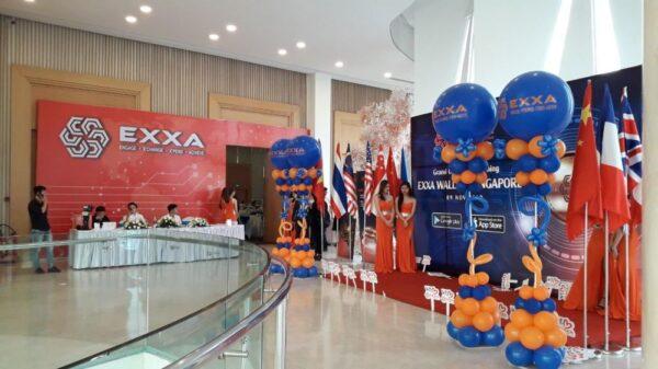 Trang trí sự kiện backdrop đường dẫn đón chào khách quốc tế BBX115