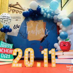 Backdrop sân khấu sự kiện 20-11 chào mừng ngày nhà giáo Việt Nam BBX123