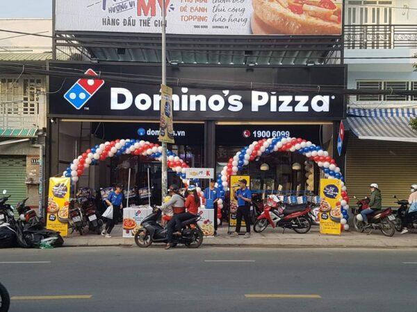Cổng chào sự kiện kép trang trí Domino Pizza BBX177