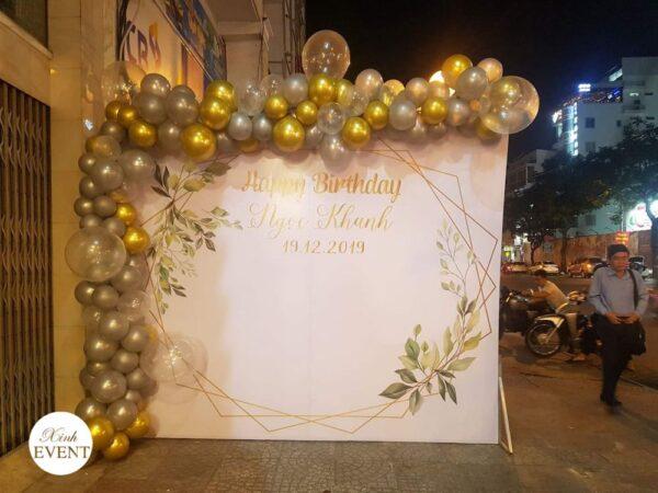 Backdrop sinh nhật trang trí ngoài trời BBX223