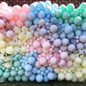 Tiểu cảnh sinh nhật với bong bóng nhiều màu BBX476