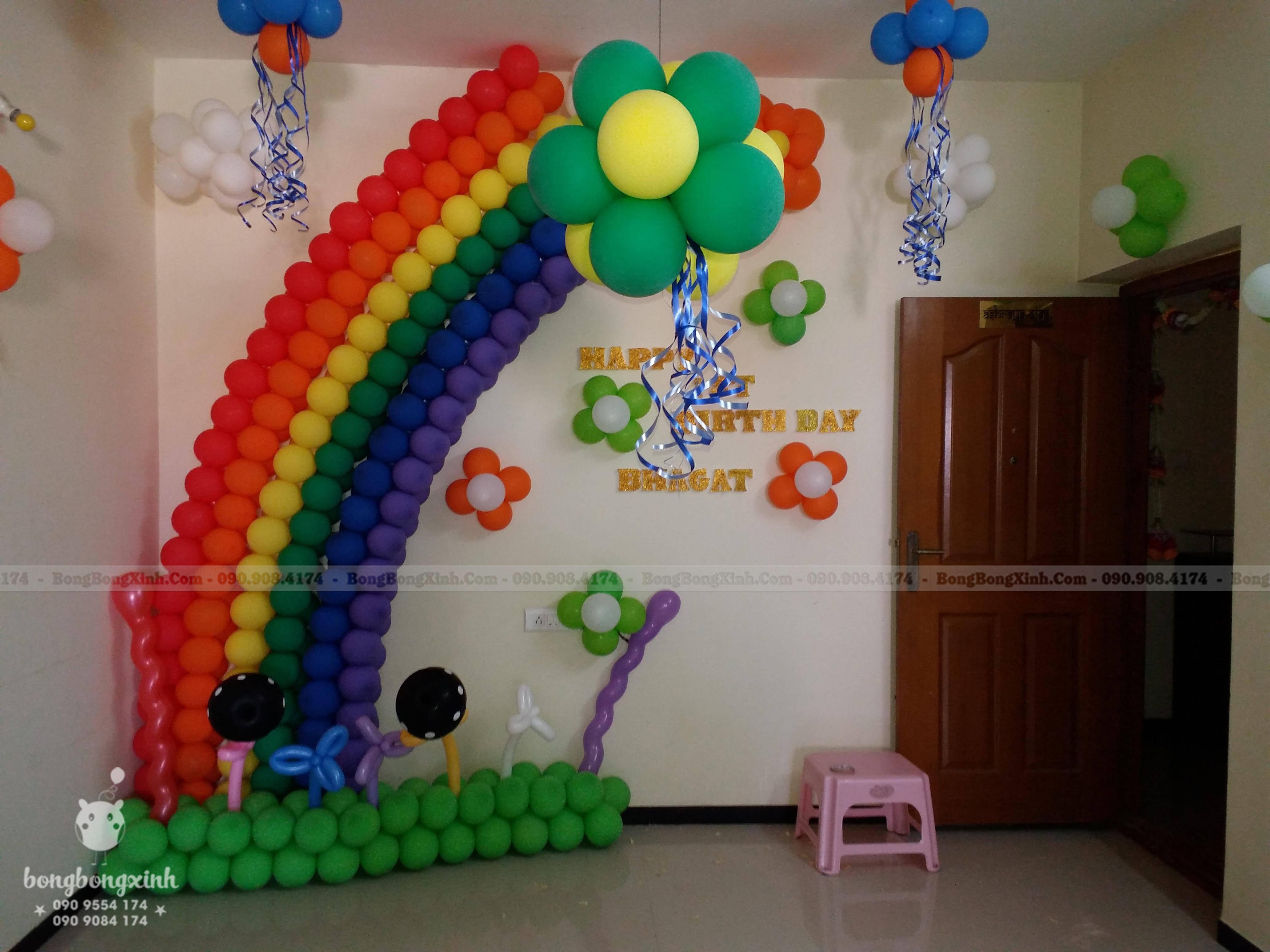 Tiểu cảnh bong bóng Rainbow