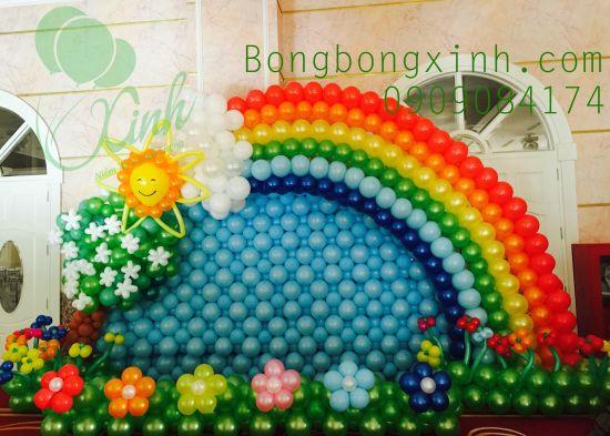 Trang trí sân khấu rainbow