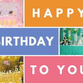 Trang trí sinh nhật trọn gói tại Bong Bóng Xinh