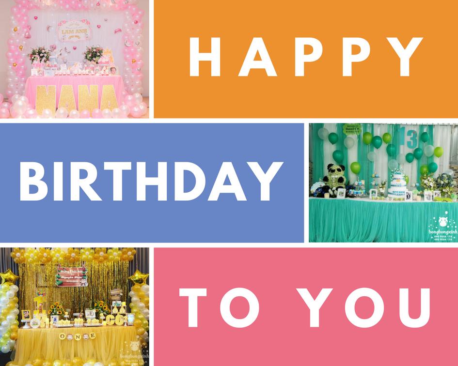 Cách trang trí sinh nhật đơn giản tại nhà
