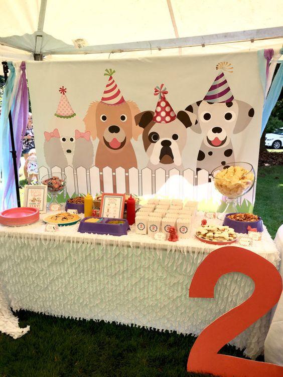 Backdrop sinh nhật tuổi chó cho các bé BBX021