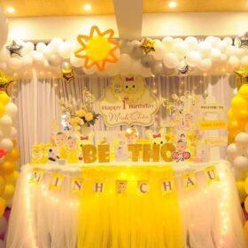 Gợi ý các sản phẩm trang trí sinh nhật màu vàng cực kỳ sang trọng