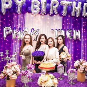 Gợi ý trang trí sinh nhật màu tím xinh đẹp và độc đáo