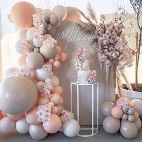 12+ Tổng hợp các mẫu thiết kế trang trí backdrop sinh nhật màu hồng