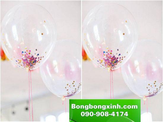 Sử dụng những trái bóng bay lấp lánh trang trí sinh nhật