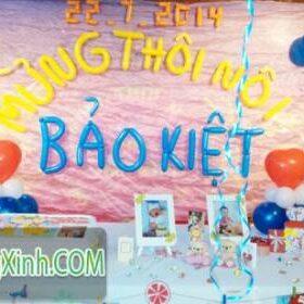 Trang trí bong bóng sinh nhật với sắc màu yêu thương