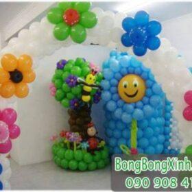 Trang trí sinh nhật cho bé trai tại nhà với bong bóng