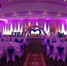 Trang trí tiệc cưới tại nhà hàng cho anh Tài và chị Anh
