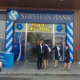 Trang trí sinh nhật ngân hàng SHINHAN BANK