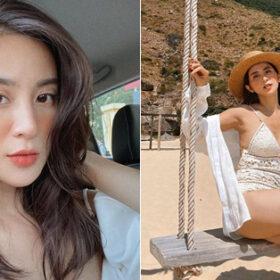 """Cựu hot girl Ngọc Anh 2 con vẫn có thân hình """"bỏng mắt"""""""