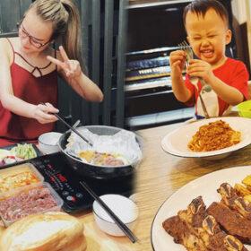 Hot mom Trang Đinh khoe bí quyết khiến con trai hào hứng với chuyện ăn uống