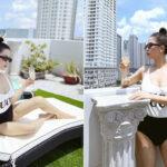 """Hot mom Trang Pilla - chị dâu Bảo Thy khoe thân hình """"bốc lửa"""" dù đã hai lần sinh nở nhưng dân tình xuýt xoa trước bể bơi view sân thượng sang chảnh"""