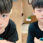 Con trai Tia Liêu có biểu cảm lầy lội dù bị mẹ phạt vì nghịch ngợm